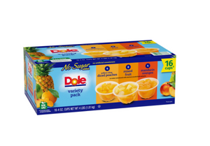 Dole No Sugar Added Mixed Fruit Variety Pack (4 oz., 16 pk.)