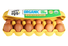 Load image into Gallery viewer, Happy Egg Co. Organic Large Grade A Eggs - 12ct