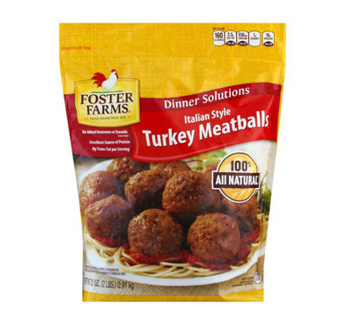 Foster Farms Turkey Meatballs, Italian Style 32 oz