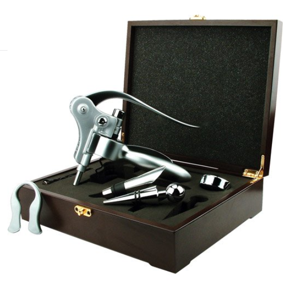 Generic Corkscrew Wine Opener Set in Wood Box