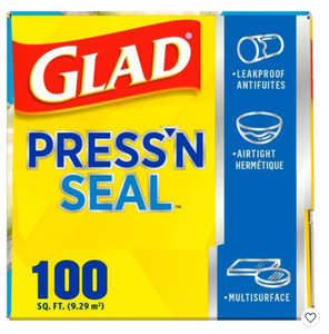 Glad Press'N Seal + Plastic Food Wrap