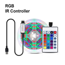 Load image into Gallery viewer, Cocina RGB LED Strip Light for Kitchen 1m-5m Tape Ribbon 24 keys Remote LED Light for TV Backlight Desktop Table Home Decoration