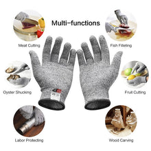 Load image into Gallery viewer, Anti Cut Gloves Safety Cut Proof Stab Resistant Stainless Steel Wire Metal Mesh Kitchen Butcher Cut-Resistant Tactical Gloves