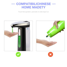 Load image into Gallery viewer, 400ML Automatic Liquid Soap Dispenser Smart Sensor soap dispensador Touchless ABS soap Dispenser for Kitchen Bathroom