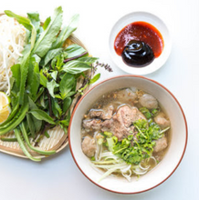 Load image into Gallery viewer, Hanoi-Style Beef Noodle Soup with Wok-Seared Steak and Fried Garlic (Pho Tai Lan)