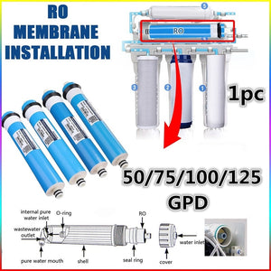 50/75/100/125GPD Home Kitchen Reverse Osmosis RO Membrane Replacement Water System Filter Water Purifier Water Filtration system