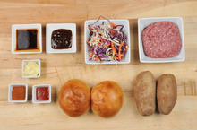 Load image into Gallery viewer, Japanese BBQ Burger with smoky potato wedges