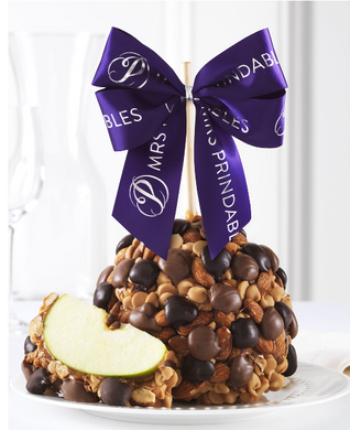 Mrs Prindable's Double Chocolate Peanut Butter Almond Jumbo Caramel Apple
