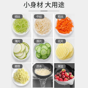 Nine in one multipurpose filter basket vegetable chopper potato shredder vegetable chopper vegetable cleaning basket kitchen supplies