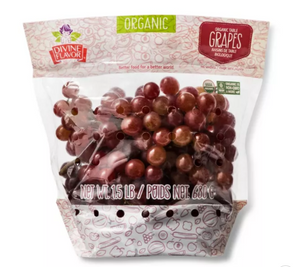 Organic Red Seedless Grapes - 1.5lb