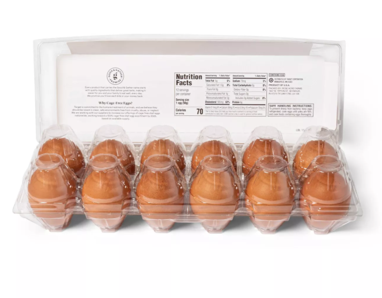 Cage-Free Fresh Grade A Large Brown Eggs - 12ct