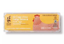 Load image into Gallery viewer, Cage-Free Fresh Grade A Large Brown Eggs - 12ct