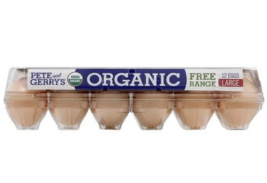 Pete and Gerrys Eggs, Organic, Free Range, Large, Grade A 12 ct
