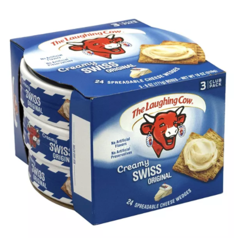 Creamy Swiss Wedge, 8 Count, 3 Pack