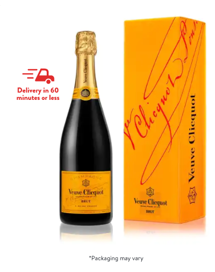 Veuve Clicquot Yellow Label Gift Box Champagne Champagne Blend /12% ABV / Champagne, France
