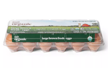 Load image into Gallery viewer, Organic Cage-Free Fresh Grade A Large Brown Eggs - 12ct