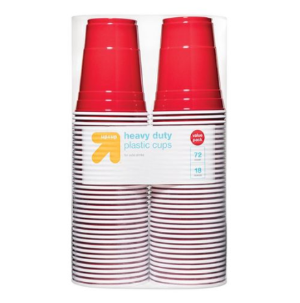 Disposable Red Plastic Cups - 18oz