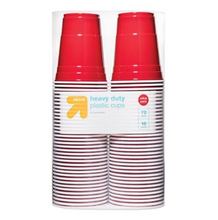 Load image into Gallery viewer, Disposable Red Plastic Cups - 18oz
