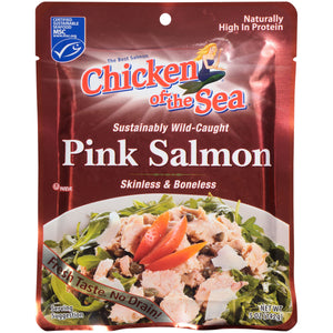 (3 Pack) Chicken of The Sea Skinless Boneless Wild Pink Salmon, 5 oz Pouch
