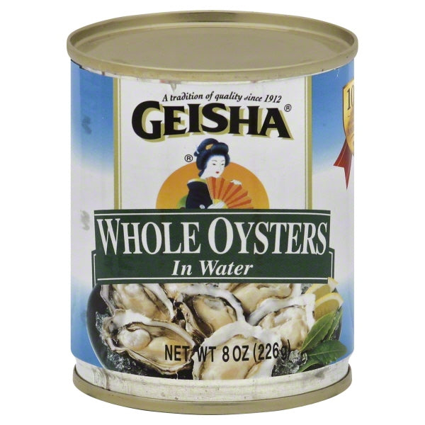 Geisha Whole Oysters in Water, 8 oz
