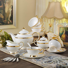 Load image into Gallery viewer, The Golden Rim Teacup Collection Set