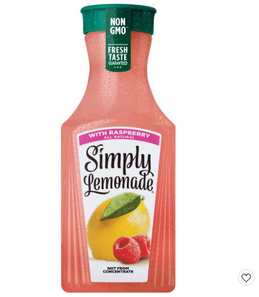 Simply Lemonade with Raspberry Juice - 52 fl oz