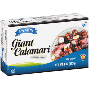 Pampa Giant Calamari in Garlic Sauce, 4 oz Box