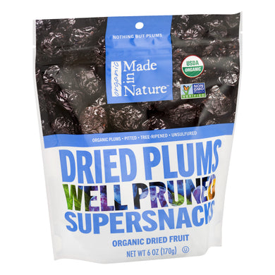 Made in Nature - Dried Plums Well Pruned Supersnacks - 6 oz.