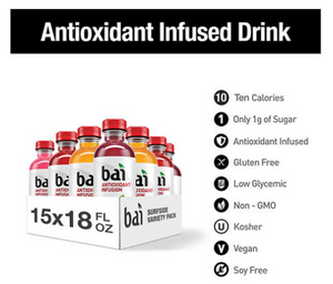 Bai Antioxidant Surfside Variety Pack (18oz / 15pk)