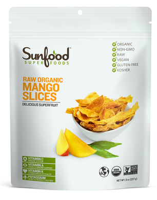 Sunfood Superfoods Organic Mango Slices, 8.0 Oz