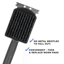 Load image into Gallery viewer, Kingsford GrillMate Grill Cleaner Replacement Pads; Sturdy, Non-Metal Bristles; Six Replaceable Cleaning Pads