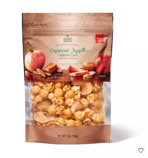 Caramel Apple Corn with Apple Slices