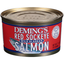 Load image into Gallery viewer, Deming's Wild Alaskan Red Sockeye Salmon, 7.5 oz Can