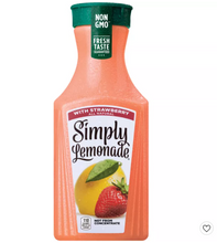 Load image into Gallery viewer, Simply Lemonade with Strawberry Juice - 52 fl oz