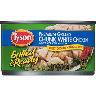 (2 Pack) Tyson® Grilled & Ready Premium Grilled Chunk White Chicken Breast, 12 oz.