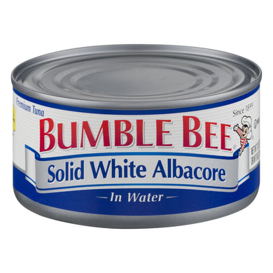 (2 Pack) Bumble Bee Solid White Albacore Tuna in Water, Canned Tuna Fish, High Protein Food, 12oz Can