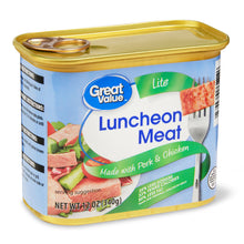 Load image into Gallery viewer, Great Value Light Luncheon Meat 12 oz, 12 oz