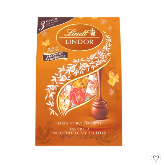 Lindor Halloween Harvest Assorted Chocolate - 15.2oz