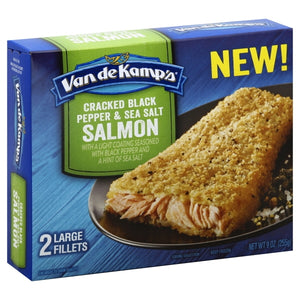 Van de Kamps Cracked Black Pepper & Sea Salt Salmon - 2 CT9.0 OZ