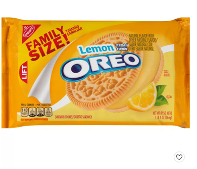 Oreo Family Size Lemon Cookies - 20oz