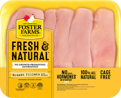 Foster Farms Family Pack of Boneless Skinless Chicken Breast, 3 - 3.81 lb