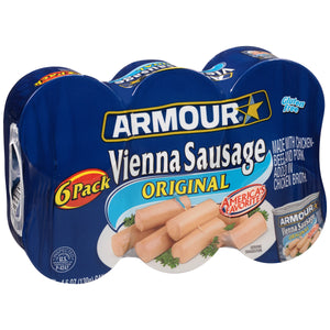 (6 Cans) Armour Original Vienna Sausage 4.6 oz