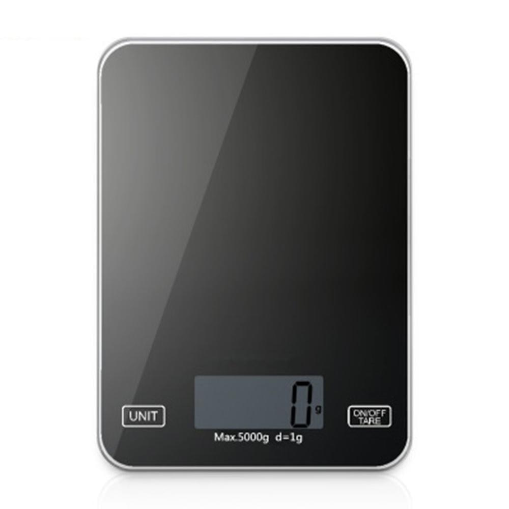 Food Baking Scales Mini Compact 5Kg/1G Kitchen Electronic Scales Home Glass Kitchen Scale Balck Tgk-001