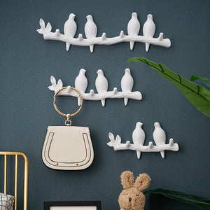 1PCS Wall Decorations Home Accessories Living Room Hanger Resin Bird Key Bedroom Kitchen Coat Hat Clothes Towel Hooks