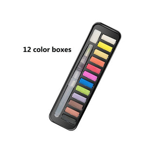 12/18/25/33/42Colors Solid Watercolor Paint Set With Water Brush Pen Watercolor Pigment For Draw Art