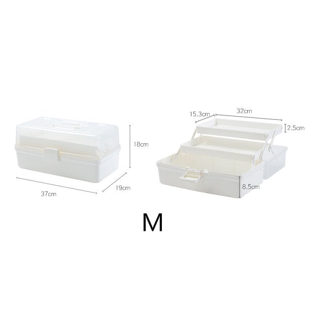 Plastic Medical Box Portable Household Multi-layer Medicine Storage Container First Aid Kit