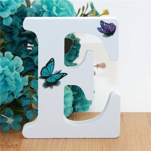 1pc 10X10cm Hand Made Animals Shape Wedding Butterfly Wooden Letters Decorative Alphabet Word Letter Name Design Art Crafts DIY