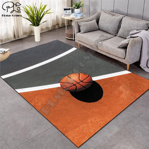 Carpet 3D Basketball Larger Mat Flannel Velvet Memory soft Rug Play Game Mats Baby Craming Bedroom Area Rugs Parlor Decor-1
