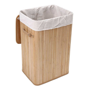 Bamboo Laundry Hamper Basket Wicker Clothes Storage Bag Sorter Bin Organizer Lid Washing Cloth Bin Rangier Lid