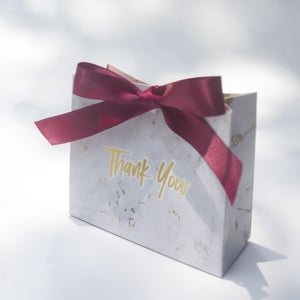 Thank You Printed Marble style Candy Bag Box for Favor Gift Decoration/Event Party Supplies/Wedding Favours Gift Boxes